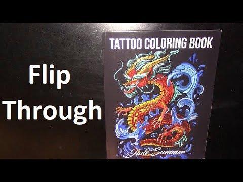 - Flip Through Tattoo Coloring Book - YouTube