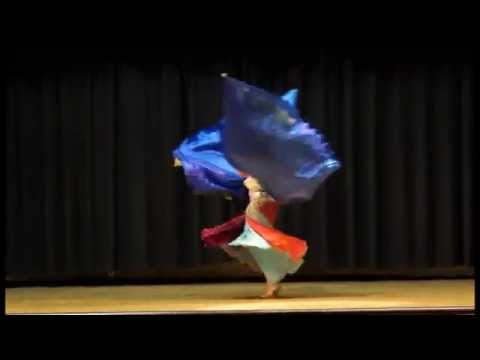 TRIPLE Isis wings to the song Asfur, belly dance by Iana