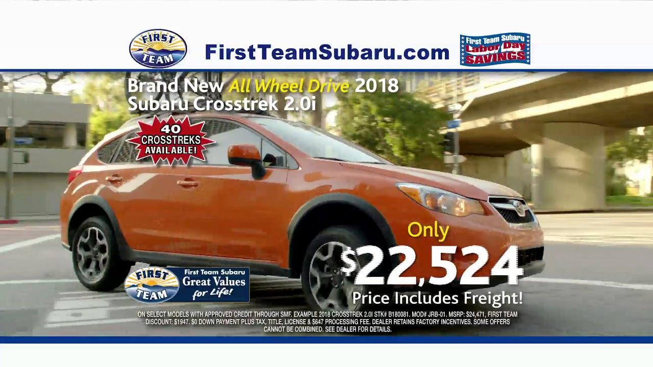 First Team Subaru >> First Team Subaru Pre Labor Day Sale 2017 Youtube