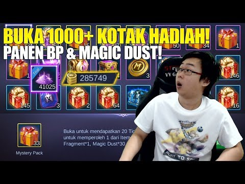AUTO TOP GLOBAL BATTLE POINT & MAGIC DUST! BUKA 1K++ KOTAK HADIAH MOBILE LEGENDS