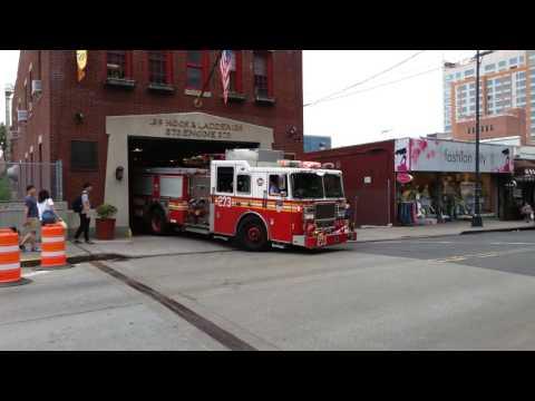 FDNY engine 273 responds to a call