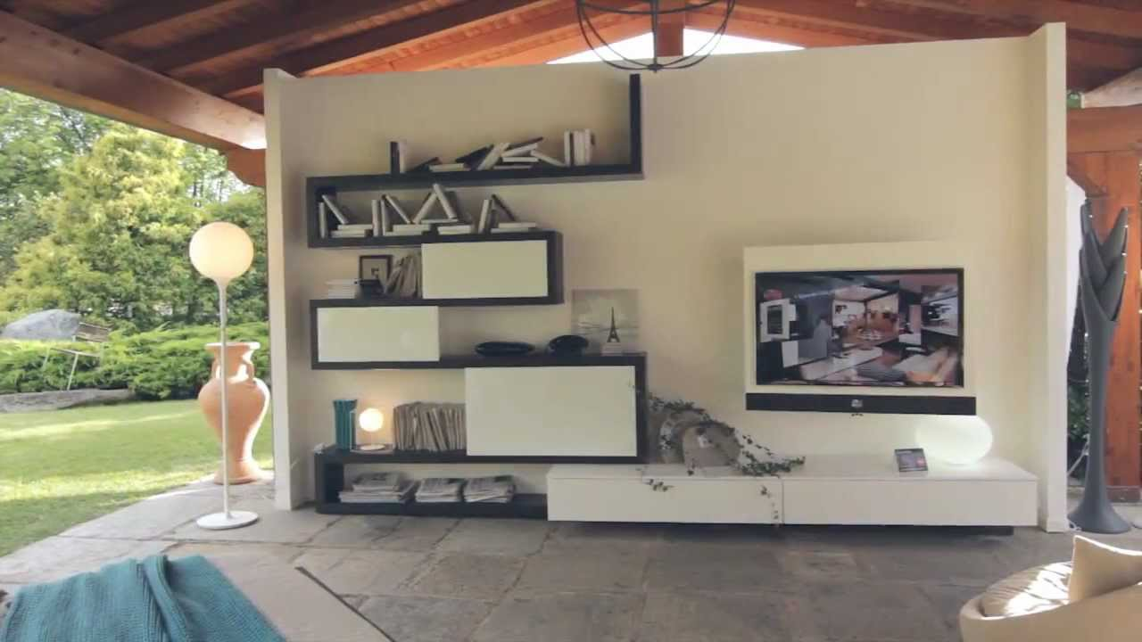 ... System - Porta Tv Multimediale Evo - Letto Feel by Fimar - YouTube