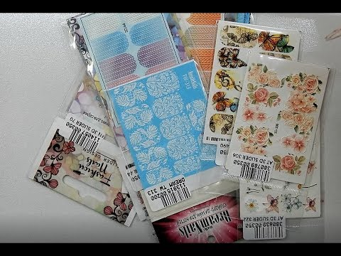 3 D Nail Sticker Haul  From Greece ! / UNUSUAL Detailed & Beautiful / Hauling