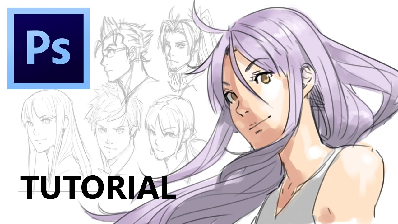 How To Draw Hair (Photoshop Tutorial)