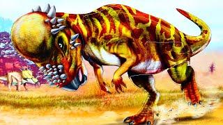 ДИНОЗАВР Стегоцерас - собираем стикеры пазлы динозавры для детей
