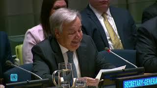 Выступление главы ООН на встрече высокого уровня по наркотикам