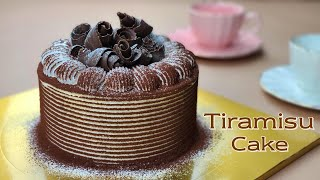 The Best Tiramisu Cake / Chocolate Ladyfingers Recipe / Chocolate curls