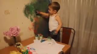 Главное чтоб папе понравилось сын художник папа будет рад