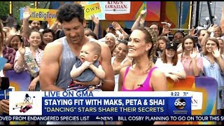 Maks & Peta With Baby Shai - Stay Fit Routine On GMA