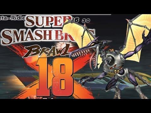 Let's Play Super Smash Bros  Brawl [HEFTIG] - Part 18 - Meta Ridley
