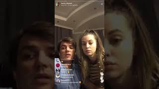 Женя Кузин с Сашей Артемовой в прямом эфире Instagram 22-04-2018
