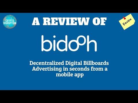 bidooh ICO Review - Decentralized Digital Billboards