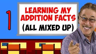 Learning My Addition Facts (All Mixed Up) | Addition Facts for 1 | Jack Hartmann