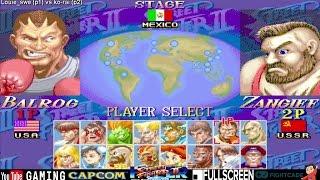 [Fightcade HD] - Hyper Street Fighter II Online Casuals - Louie_swe (SWEDEN) vs. ko-rai (JAPAN)