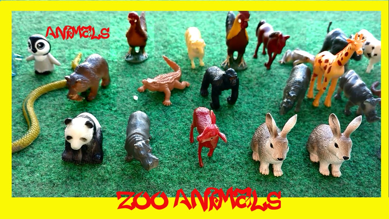 Zoo Farm And Sea Animal Toys Kids Playing Fun Learn Names And Sounds