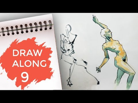 Draw Along Club 9 - PRACTISE LIFE DRAWING with us
