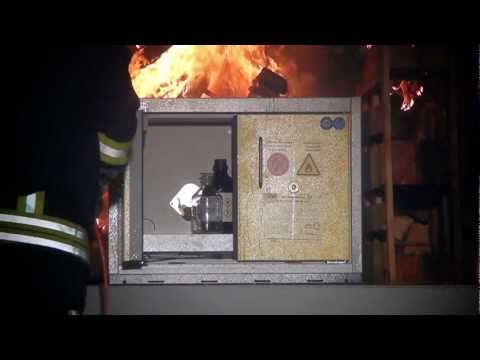 DUEPERTHAL Type 90 Safety Cabinet in 90 Minute Fire Endurance Test (English)