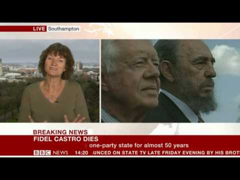 Interview with                               Dr. Denise Baden                              about the death Fidel on                               BBC                              .