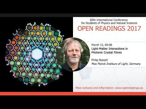 Light-Matter Interactions in Photonic Crystal Fibres, Philip Russel