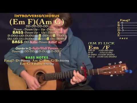 Swang (Rae Sremmurd) Guitar Lesson Chord Chart - Capo 3rd - Em F Am G