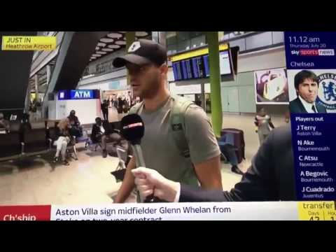 Alvaro Morata being interviewed at Heathrow Airport ahead of Chelsea Move!