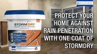 Stop Rain Penetration with Stormdry Masonry Protection Cream
