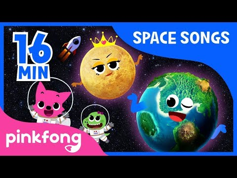 Eight Planets and more | Space Songs | +Compilation | Pinkfo