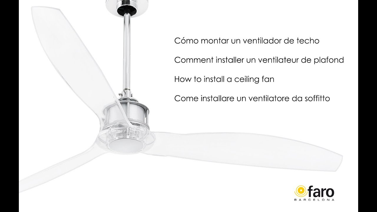 Cmo montar un ventilador de techo how to install a ceiling fan cmo montar un ventilador de techo how to install a ceiling fan aloadofball Gallery