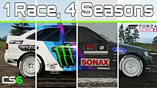 1 Race, 4 Seasons - Forza Horizon 4 - Hoonigan Cossie V2