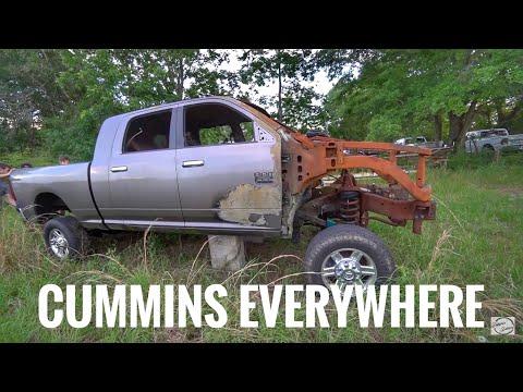 PERSONAL CUMMINS JUNK YARD! TRUCKS EVERYWHERE
