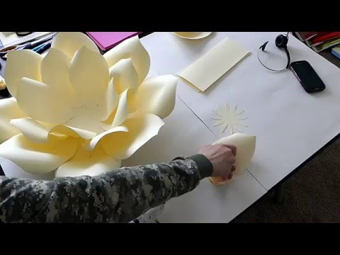 DIY Large Paper Flower, Paper flower Stencil,  Paper Flower Backdrop, Backdrop Flowers
