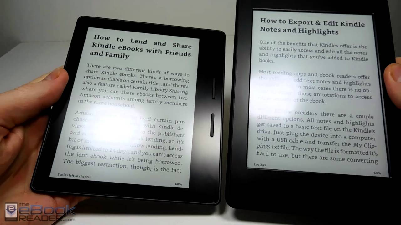 d9080f7f2e8700 Kindle Oasis vs Kindle Paperwhite Comparison Review - YouTube