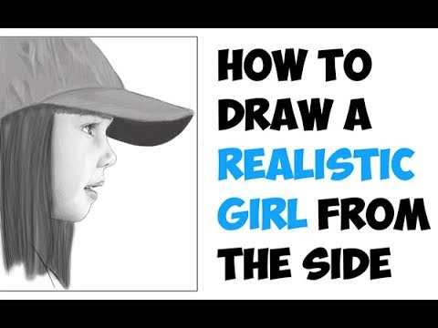 How To Draw A Face For Beginners Step By Step From Side Cute Little