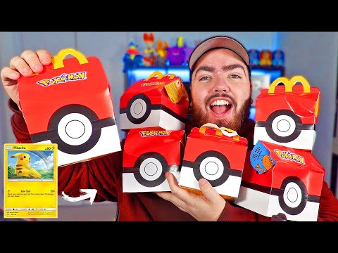Opening 12 POKEMON Card McDonalds Happy Meal Toy Boxes