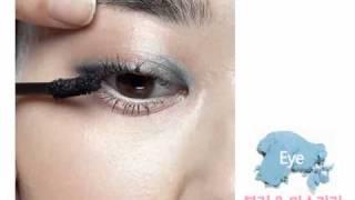 파스텔 컬러 포인트 메이크업_Baby Blue Eyes Make up