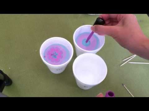 What type of water to use when water marbling nails?