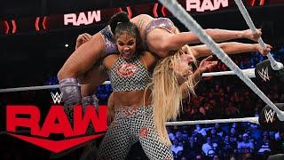 Charlotte Flair vs Bianca Belair Raw Women s Championship Match Raw Oct 18 2021
