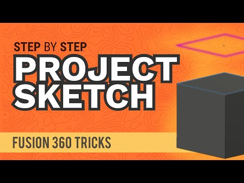 Fusion 360: How to Project (and Intersect) a Sketch in