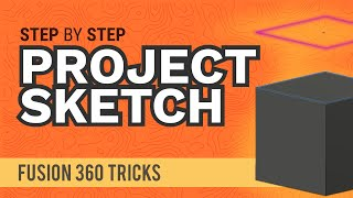 Fusion 360: How t๐ Project (and Intersect) a Sketch in Fusion 360 | #fusionFridays