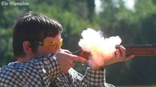 Super slow-motion shows power of black powder shooting