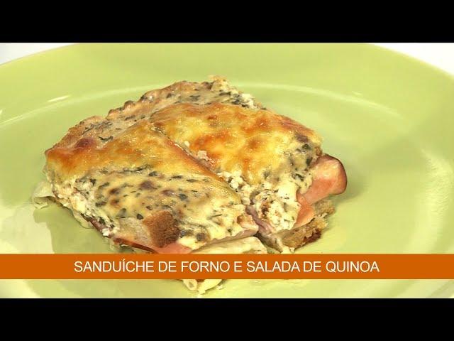 Sanduíche de Forno e Salada de Quinoa