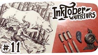 Inktober Page 11 • Running With Wolves  ( Princess Mononoke fan art )