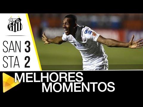 Santos 3 x 2 Santa Cruz | MELHORES MOMENTOS | Brasileirão (18/09/16)