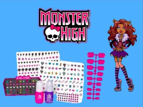 Monster high 3d nail design set youtube monster high 3d nail design set prinsesfo Images