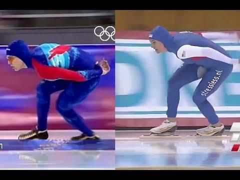 Dan Jansen (1994) vs. Brittany Bowe (2015) - 1000m (WR)