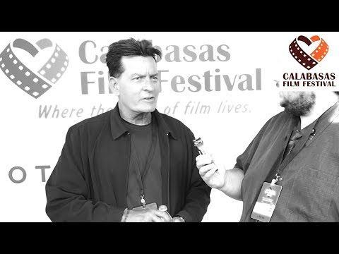 Exclusive  with Charlie Sheen for Brothers in Arms Calabasas Film Festival