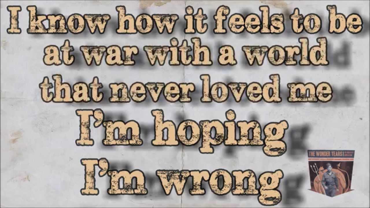 The Wonder Years – The Devil in My Bloodstream Lyrics ...