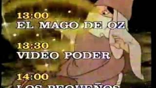 Programacion del canal 5 de televisa en los años 90s