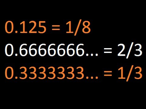 Steps to Convert Decimal Numbers into Rational Numbers - Part 1