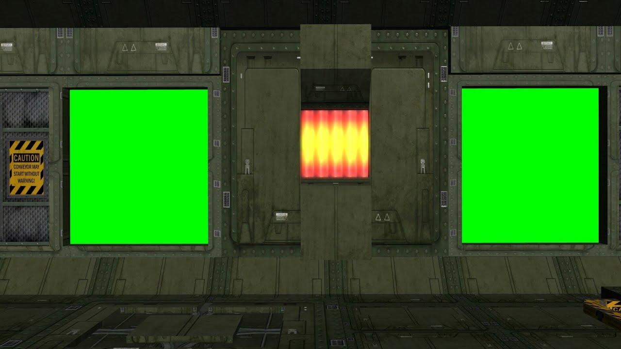 spaceship corridor animation green screen youtube. Black Bedroom Furniture Sets. Home Design Ideas